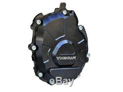 YAMAHA 2015-2018 R1 R1M R1S WOODCRAFT LEFT SIDE ENGINE STATOR COVER With SKID PAD