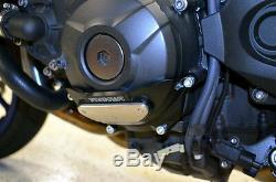 Yamaha 2014-2017 Fj09 Woodcraft Left Side Engine Stator Cover With Skid Pad