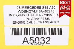 03-08 Mercedes W220 S55 E55 Amg Gauche Et Côté Droit Moteur Filtre D'admission D'air A90