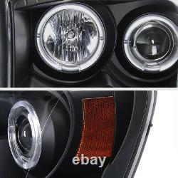 06-08 Dodge Ram 1500 2500 3500 Black Dual Halo Projecteur Phares/lampes Led