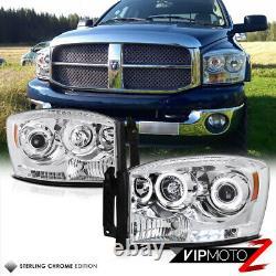 06-08 Dodge Ram Camion Pickup Led Halo Angel Eye Projector Head Light Pair Lampe