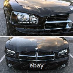 06-10 Chargeur Dodge Direct Fit Noir Led Drl Upgrade Ensemble De Phares De Remplacement