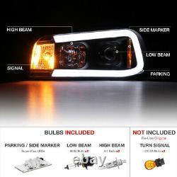 06-10 Chargeur Dodge Tron Style C-forme Led Neon Tube Projecteur Noir Phare