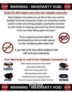07-09 Convertisseur Catalytique Double Côté Conducteurs Du Moteur Jeep Wrangler 3.8 Fabriqué Aux États-unis