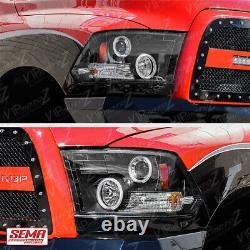 09-18 Dodge Ram 1500 2500 3500 Ccfl Halo Angel Eye Projecteur Led Phare Pair