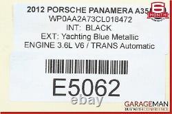 10-15 Porsche Panamera 970 3.6l Couvercle De La Soupape À Tête De Cylindre De Moteur Latéral Gauche Oem