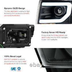 13-14 Ford F150 D3s Hid Modèle Black Led Halo Light Bar Phare De Projecteur Drl