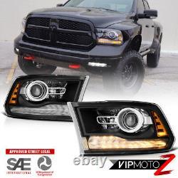 13-18 Dodge Ram 1500/2500/3500 Style Usine Noir Led Projecteur Phare