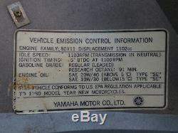 1980 Yamaha Xs1100 Xs Eleven Gris Gauche Moteur Side Cover