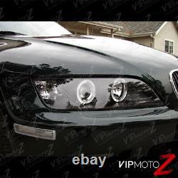 1996-2002 Bmw Z3 M-power Black Angel Eye Halo Bague Projecteur Phares Lh+rh