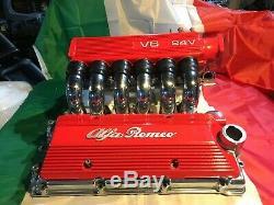 1997-2000 Alfa Romeo 3.0 Cf2 Moteur Détail Plénum Inlet Runner Pipes Coil Couverture