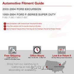 1999-2004 Ford F250 F350 F450 Sd Super Duty Black Smoke Halo Corner Phares