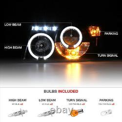 2001-2011 Ford Ranger Sinister Black Corner Halo Projecteur Led Phares Lampe
