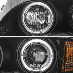 2002-2005 Bmw E46 4dr Sedan Black Halo Projecteur Phare De Phare De La Lampe D'angle 2003 2004