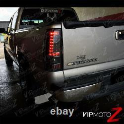 2003-2006 Chevy Silverado 1500 2500 3500 C-shape Noir Led Feux De Queue Arrière Lampe