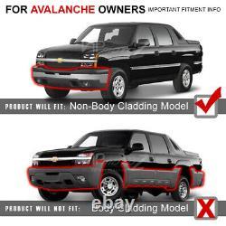 2003-2006 Chevy Silverado Sinister Black 03-05 Avalanche Halo Phares À Led