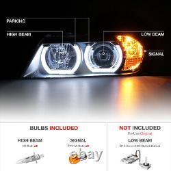 2005-2008 Bmw E90 Série 3 Bi-xenon Afs Adaptif D1s Black Halo Headlight Pair
