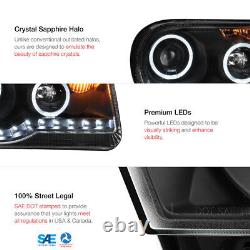 2005-2010 Chrysler 300c 300 C Led Strip Drl Projecteur Halo Black Phares Lampe