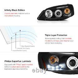 2005-2010 Pontiac G6 Gt Base Black Halo+led Projecteur Projecteur Phares