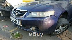 2005 Honda Accord Bleu Carre 2.2 Diesel Chocs Avant Avec Phares Anti-brouillard (pas Gril)