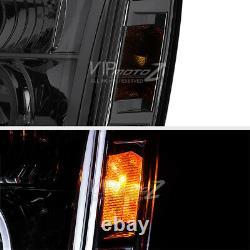 2007-2013 Gmc Yukon Denali Left+right Pair Fumer Halo Projecteur Phares