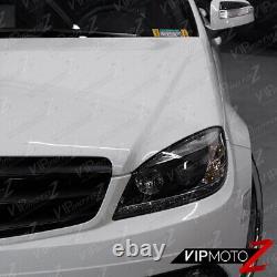 2008-2011 Mercedes-benz W204 Classe C Black Amg Style Projecteur Led Phares De Tête