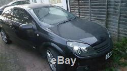 2008 Vauxhall Astra Conception 3dr En Cuir Noir Arrière Demi-strapontins En Cuir