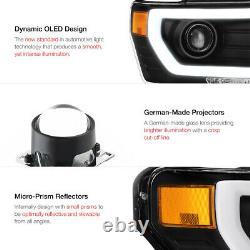 2009-2014 F150 Lobo Fiber Optic Projecteur De Tubes Neon Head Lights Assemblage Pair
