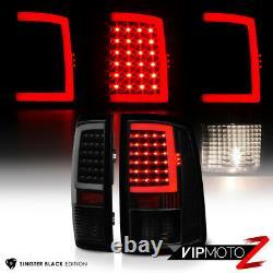 2009-2018 Dodge Ram 1500 2500 3500 Fiber Optic Sinister Black Tail Lights