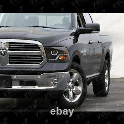 2009-2018 Dodge Ram 1500 2500 3500 Haute Output Led Phares Noirs Assemblage