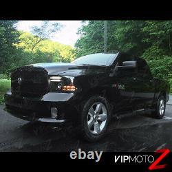 2009-2018 Dodge Ram 1500 2500 3500 Tribal Version Black Led Headlights Set