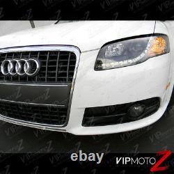 Audi 06-08 B7 A4/s4 Led Bande Drl Projecteur De Phare De Lampe De Signalisation De Mise À Niveau Noir
