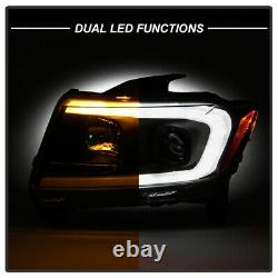 Black Clear Projecteur Phare Led Switchback Pour 11-13 Jeep Grand Cherokee Wk2