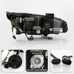 Black Led Block Signal Séquentiel Double Projecteur Phare Pour 16-21 Honda CIVIC