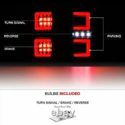Black Smoke Tron Style Neon Led Feux Arrière Lampe De Frein Pour 16-21 Toyota Tacoma