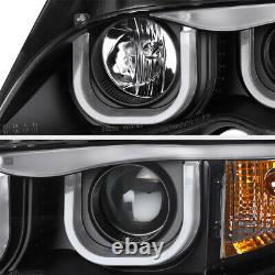 Bmw E46 3-séries 325/330 Berline Euro Black 3d U-bar Halo Projecteur Phare
