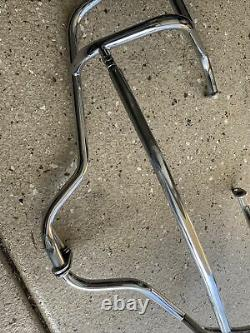 Bmw R1200c Engine Guard Set With C Logo Engine Right Side Guard Slotted Left Top