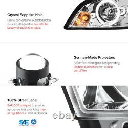 Chrome Halo Angel Projecteur Led Phare 06-2013 Chevy Impala Lt/ls/ltz/ss