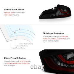 Darkest Smoke Led Strip Tail Lights Assemblage Pour 2003-2005 Infiniti G35 Coupe