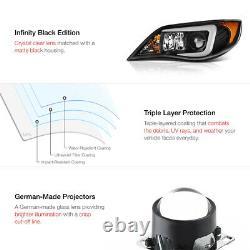 Dernière Design Tube Oled Lampes Phares Noires Pour 08-14 Subaru Impreza Wrx