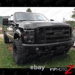 Double Halo Angel Eye Led Drl Phare De Phare De Phare De Projecteur 08-10 Ford Superduty Truck