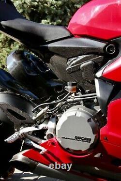 Ducati Panigale 899 959 V2 Fibre De Carbone Couvercle Du Moteur Panneaux Latéraux Carénage Set