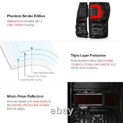 Feux De Queue À Led Optic Fiber Lens Smoked Pour Camion De Ramassage Toyota Tundra 07-13
