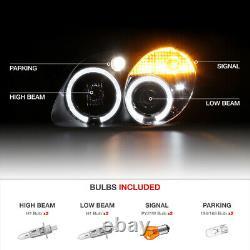Feux Phares Noirs Lh+rh Dual Halo Projector Pour 98-04 R170 Slk M-benz