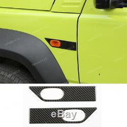 Fibre De Carbone Réel Capot Moteur Côté Wrap Angle De Finition Pour Suzuki Jimny 2019 202011