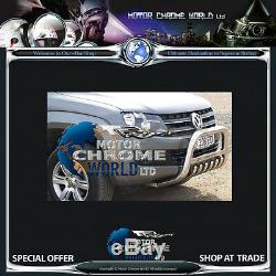Fits Vw Amarok Bull Bar Chrome Essieu Nudge A-bar 60mm 2009-2016 Logo