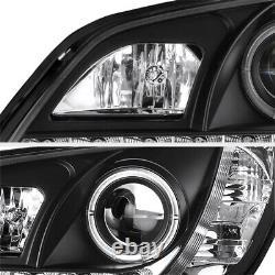 Jdm Spec Pour 2001-05 Lexus Is200 Is300 2jz Projecteur À Led Noir Halo Phares