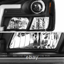 Lampe De Tête De Projecteur Noir C-forme De Tube De Lumière Led Pour 04-15 Titan 04-07 Armada