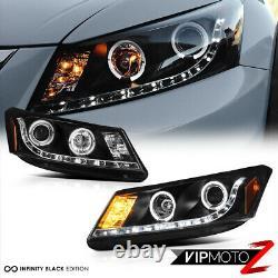 Lampe Phare À Led Halo Black Projector Pour Honda Accord 08-12 Cp2 Cp3 Ex/ex-l