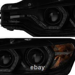 M3 Style Laser 2012-15 Bmw F30 320i 328i 335i Projecteur De Fumée Noir Phares